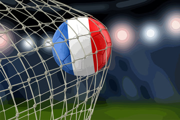 French soccerball in net