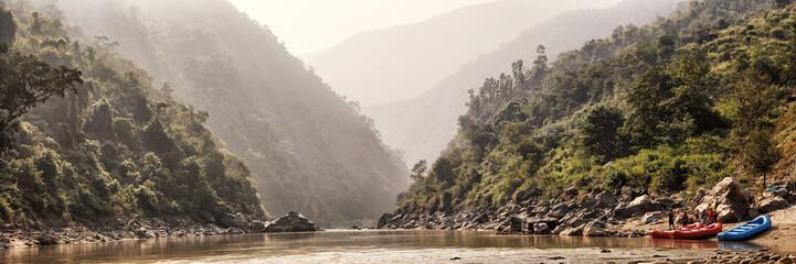 Rafting on River Trishuli, Safety Instruction, Nepal