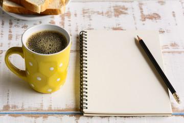 Good morning black coffee cup