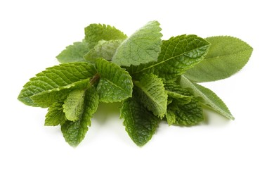 Aromatic fresh mint and sage.