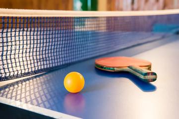 Table tennis - racket, ball, table