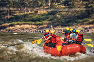 Rafting on River Trishuli, Nepal