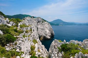 和歌山県 白崎海洋公園からの景色
