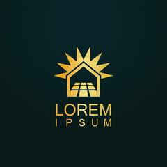 gold house solar technology logo