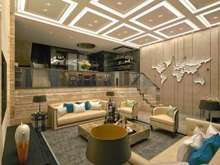 3d render of luxury house interior