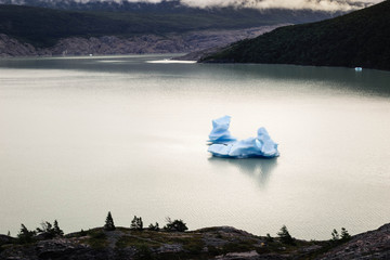 Glacier Grey, icebergs floating. Beautiful and sculpture shape. Patagonia, Chile