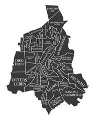 Magdeburg city map Germany DE labelled black illustration