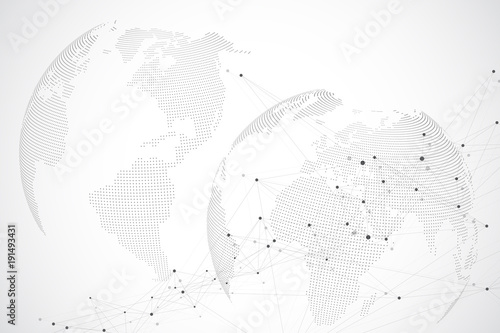 Global network with world map abstract vector infinite space global network with world map abstract vector infinite space background perspective backdrop digital gumiabroncs Choice Image