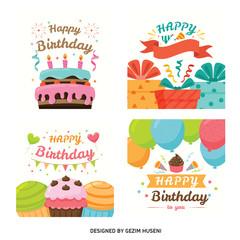 Colourful birthday cards