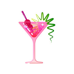 The cocktail is cosmopolitan.