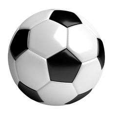 soccer ball, 3d rendered illustration, clipping path included