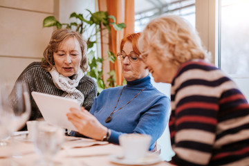 Senior Women In A Restaurant