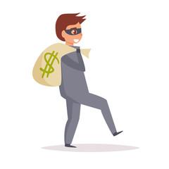 Robber. Vector. Cartoon. Isolated