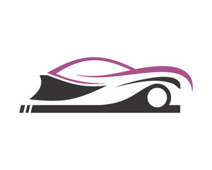 car silhouette icon automotive vehicle dealer drive image vector icon