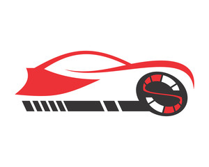 race car automotive vehicle dealer drive image vector icon silhouette