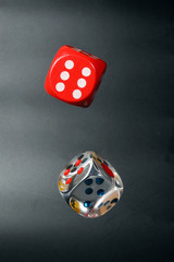 Colorful playing gaming dice