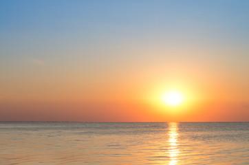 sunrise over the calm sea, beautiful landscape