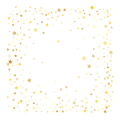 Gold Confetti Vector Design. Premium Christmas, New Year, Birthday Celebration Garland. Sparkles, Lights on White Falling Stars Magic Shiny Glitter. Gold Confetti for Music Party, Concert Poster