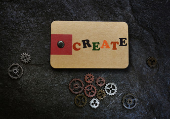 Create message and gears