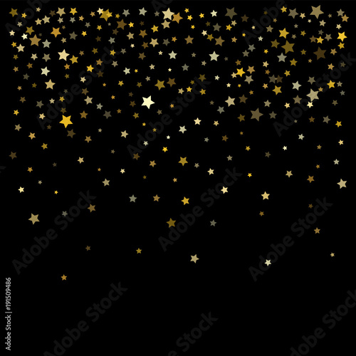 gold dust sparkles premium star scatter vector background falling stars garland frame