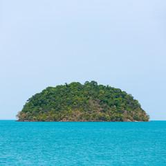 Uninhabited tropical island in Thailand