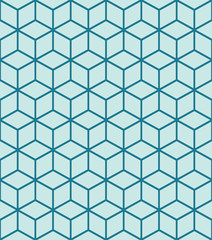 Seamless cubes isometric background pattern in vector format
