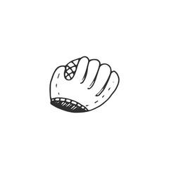 glove for baseball vector draw