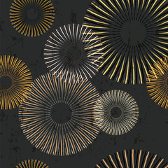 seamless pattern background, with circles, strokes and splashes, grungy