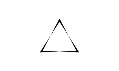 Triangle logo vector. with black color, vector icons. Wall mural