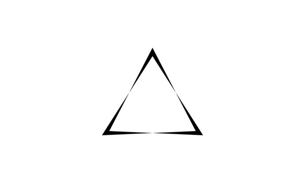 Triangle logo vector. with black color, vector icons.