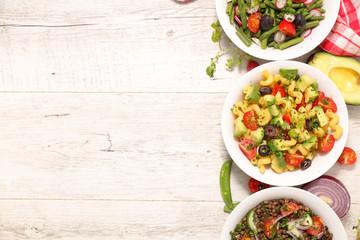 Fotobehang - vegetarian bowl salad