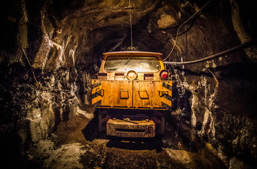 Mining Car in Mine