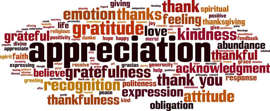 Appreciation word cloud