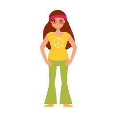 Vector. Flat. Hippy