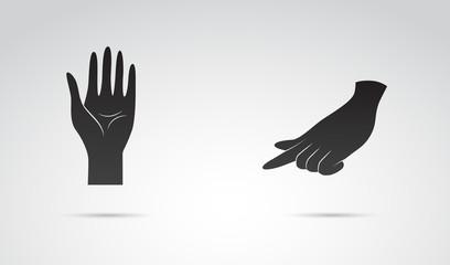 Human hand vector art.
