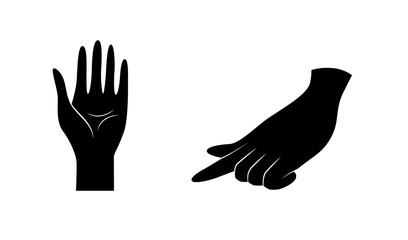 Hands, hand vector icon set.