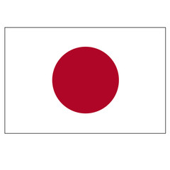 Bright background with flag of Japan.
