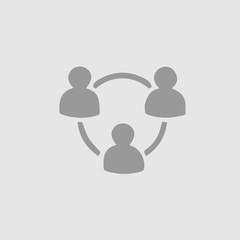 People network circle vector icon eps 10. Business team partnership pictogram.