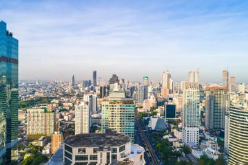BAngkok cityscape modern office building sunshine in morning
