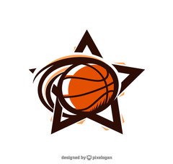 Basketball Star Sport Logo