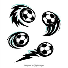 Football Swoosh Set of 4 Logo