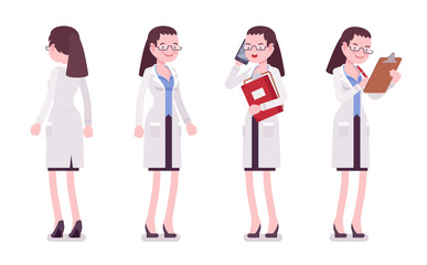 Female scientist standing
