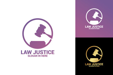 Law Justice Logo Template Design Vector, Emblem, Design Concept, Creative Symbol, Icon
