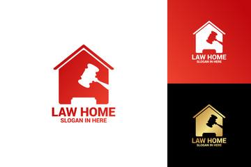 Law Home Logo Template Design Vector, Emblem, Design Concept, Creative Symbol, Icon