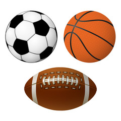 soccer basketball and rugby ball