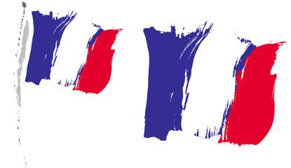 DRAPEAU FRANÇAIS pinceau