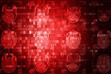 Red MRI Digital Abstract technology background