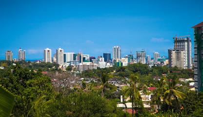 Panorama of Cebu city. Philippines