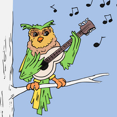 Uil zingt een lied