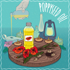 Poppyseed oil used as fuel for oil lamp